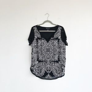 INC Embroidered Blouse